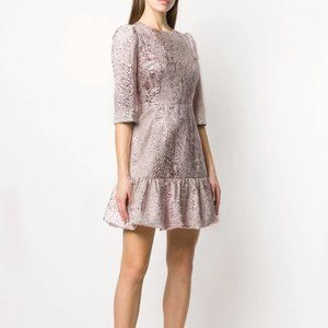 Dolce & Gabbana lamé jacquard short dress pink